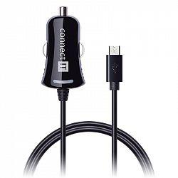 Adaptér do auta Connect IT InCarz, Micro USB, 2,1A, 1,5 m čierny...