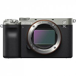 Digitálny fotoaparát Sony Alpha 7C, telo strieborn... Bezzrcadlovka, Full-Frame Exmor R CMOS snímač 24,2 Mpx, bajonet Sony E, video 4K (3840x2160)/30