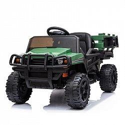 Elektrické auto MaDe s nákladním prostorem černo/zelen...