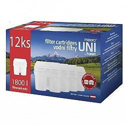 Filter na vodu Maxxo UNI 12 ks... Náhradní filtr kompatibilní s filtračními systémy LAICA Biflux, Brita Maxtra, BWT. Balení obsahuje 12 ks.