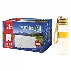 Filter na vodu Maxxo UNI 12 ks + sportovní láhev... Náhradní filtr kompatibilní s filtračními systémy LAICA Biflux, Brita Maxtra, BWT. Balení obsahuje