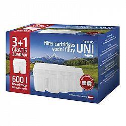 Filter na vodu Maxxo UNI 3+1... Náhradní filtr kompatibilní s filtračními systémy LAICA Biflux, Brita Maxtra, BWT. Balení obsahuje 4 ks.