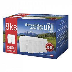 Filter na vodu Maxxo UNI 8 ks... Náhradní filtr kompatibilní s filtračními systémy LAICA Biflux, Brita Maxtra, BWT. Balení obsahuje 8 ks.