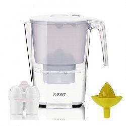 Filtrácia vody BWT Slim MEI 3,6 l + juicer... Objem 3,6 l, mechanický indikátor výměny filtru, ruční odšťavňovač na citrusy.