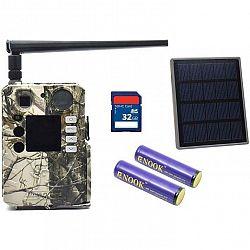 Fotopasca BolyGuard BG310-M zelen... Fotopast + solární panel, 32 GB SD a 2x baterie ZDARMA, 4G LTE, dobíjecí baterie Li-ion, podpora cloud Molnus, SM