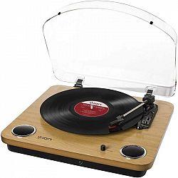 Gramofón ION Max LP dreven... Gramofon, rpm 33/45/78, konvertování gramodesek do digitální podoby, USB-B, RCA, sluchátkový výstup, vestavěné stereo re