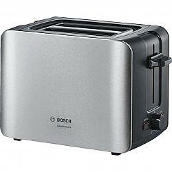 Hriankovač Bosch ComfortLine Tat6a913 strieborn... Dvouštěrbinový, termostat s časovačem, držák na housky, retoasting, přihrádka na drobky, rozmrazová