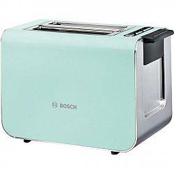 Hriankovač Bosch Styline TAT8612 tyrkysov... Pro 2 toasty, automatické centrování, vysoký zdvih pro snadné vyjmutí malého chleba, integrovaný nerezový