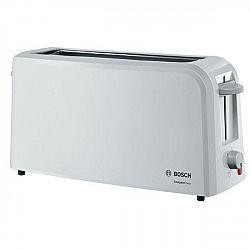 Hriankovač Bosch Tat3a001 biely... Dlouhá štěrbina pro celý krajíc chleba, zařízení na zvedání toastů