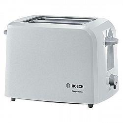 Hriankovač Bosch Tat3a011 biely... Každé opékání s automatickým centrováním toastu, zařízení na zvedání toastů
