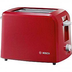 Hriankovač Bosch Tat3a014 červen... Každé opékání s automatickým centrováním toastu, zařízení na zvedání toastů