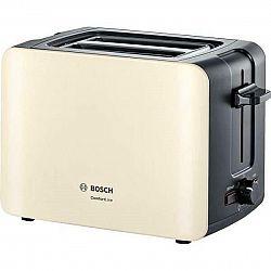 Hriankovač Bosch Tat6a117 čierny/béžov... Automatické centrování chleba, zařízení na zvedání toastů