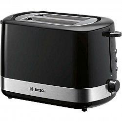 Hriankovač Bosch TAT7403 čierny/nerez... Pro 2 toasty, automatické centrování, vysoký zdvih pro snadné vyjmutí malého chleba, integrovaný nástavec na