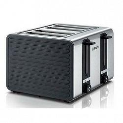 Hriankovač Bosch Tat7s45 sivý/nerez... 4 toust. sloty - 2 samostatné regulace, automatické centrování chleba.