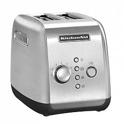 Hriankovač KitchenAid 5Kmt221esx     nerez... Funkce jednostranné opékání pro opékání bagelů a bulek - opéká pouze uvnitř a zvenku zahřívá. Funkce ryc