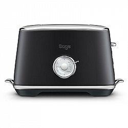 Hriankovač Sage Sta735btr Black Truffle čierny... Toastovací otvory pro 2 toasty, Spuštění/zdvih toastu manuální, 6 stupňů opečení, Funkce rozmrazován
