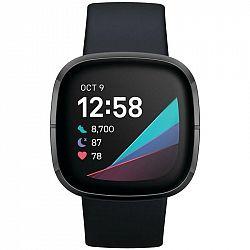 Inteligentné hodinky Fitbit Sense - Carbon/Graphite Stainless Steel... Chytré hodinky ,  akcelerometer, gyroskop, krokoměr, senzor okolního světla, se