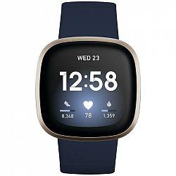 Inteligentné hodinky Fitbit Versa 3 - Midnight/Soft Gold Aluminum... Chytré hodinky ,  akcelerometer, gyroskop, krokoměr, senzor okolního světla, senz