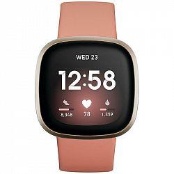 Inteligentné hodinky Fitbit Versa 3 - Pink Clay/Soft Gold Aluminum... Chytré hodinky ,  akcelerometer, gyroskop, krokoměr, senzor okolního světla, sen
