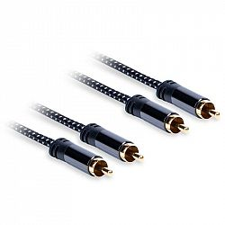 Kábel AQ 2xRCA/2xRCA, M/M, 0,75 m čierny (xdtrr007...