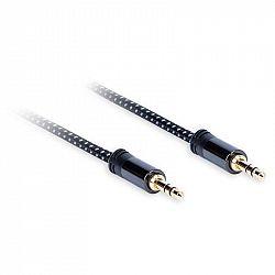 Kábel AQ 3,5 mm Jack/3,5 mm Jack, M/M, 0,75,m čierny (xdtjj007...