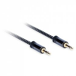 Kábel AQ 3,5 mm Jack/3,5 mm Jack, M/M, 1,5,m čierny (xdtjj015...