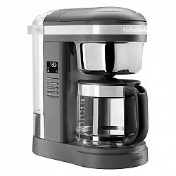 Kávovar KitchenAid 5Kcm1209edg siv... 1,7l překapávací kávovar na 12 šálků s 29 spirálovými tryskami a programovatelnou nahřívací deskou. Snadné použi