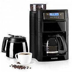Kávovar Klarstein Aromatica II Duo čierny... LCD displej, mlýnek na zrnkovou kávu, časovač, filtr podle vlastního výběru: možné použití s papírovými f
