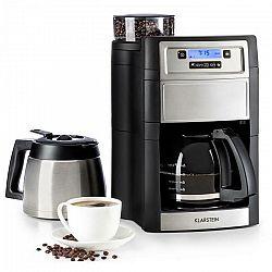 Kávovar Klarstein Aromatica II Duo strieborn... LCD displej, mlýnek na zrnkovou kávu, časovač, filtr podle vlastního výběru: možné použití s papírovým
