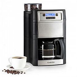 Kávovar Klarstein Aromatica II strieborn... LCD displej, mlýnek na zrnkovou kávu, časovač, skleněná konvice.