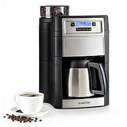 Kávovar Klarstein Aromatica II Therm strieborn... LCD displej, mlýnek na zrnkovou kávu, časovač, filtr podle vlastního výběru: možné použití s papírov