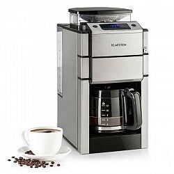 Kávovar Klarstein Aromatica X nerez... Integrovaný mlýnek, časovač, funkce Aroma, LED displej.