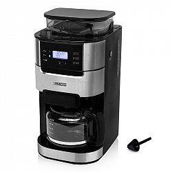 Kávovar Princess 249411... Skleněná konvice na kávu o objemu 1,5 l, LCD panel, časovač, integrovaný mlýnek na kávu.