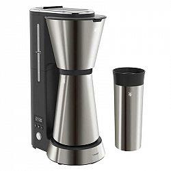 Kávovar WMF Kitchenminis® Aroma 412260041... Kávovar na pět šálků (s velikostí 125 ml) s termoskou z nerezové oceli, s cestovním termohrnkem, LCD obra