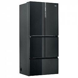 Kombinácia chladničky s mrazničkou Haier HFF-750Cgbj čierna/sklo...