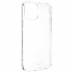 Kryt na mobil Fixed Skin na Apple iPhone 12 mini priehľadný...