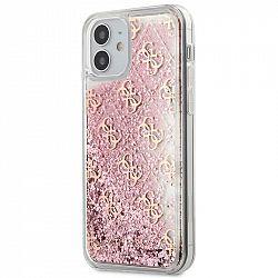 Kryt na mobil Guess 4G Liquid Glitter na Apple iPhone 12 mini...