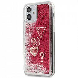 Kryt na mobil Guess Liquid Glitter Charms na Apple iPhone 12 mini...
