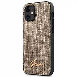 Kryt na mobil Guess Lizard na Apple iPhone 12 mini zlatý...