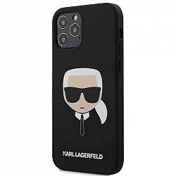 Kryt na mobil Karl Lagerfeld Head na Apple iPhone 12/12 Pro čierny...