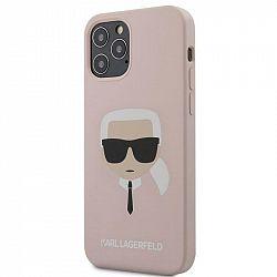 Kryt na mobil Karl Lagerfeld Head na Apple iPhone 12/12 Pro ružový...