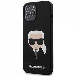 Kryt na mobil Karl Lagerfeld Head na Apple iPhone 12 Pro Max čierny...
