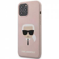 Kryt na mobil Karl Lagerfeld Head na Apple iPhone 12 Pro Max ružový...