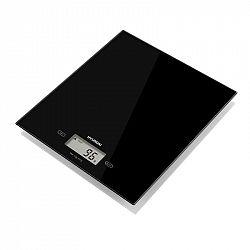 Kuchynská váha Hyundai Kve893b čierna... Digitálna kuchynská váha so sklenenou vážiacou plochou, LCD displejom, kapacitou 5 kg a funkciou merania obje