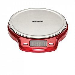 Kuchynská váha KitchenAid Kd151bxera     červená/nerez... Digitální váha s LCD obrazovkou, zváží až 9,9 kg.