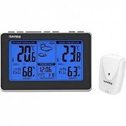 Meteorologická stanica Garni 550 Easy čierna/strieborn... Meteorologická stanice s bezdrátovým čidlem GARNI 039H, LCD displej, čas řízený rádiovým sig