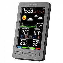 Meteorologická stanica Gogen ME 2930 siv... Meteorologická stanice, animovaná předpověď počasí, vnitřní/venkovní teplota a vlhkost, čas řízený rádiový