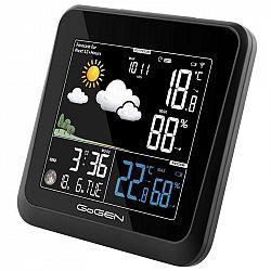 Meteorologická stanica Gogen ME 3236 čierna... Meteorologická stanice, animovaná předpověď počasí, vnitřní/venkovní teplota a vlhkost, čas řízený rádi