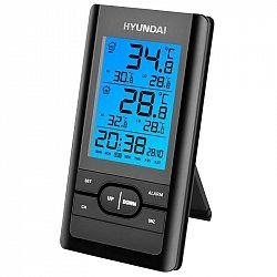 Meteorologická stanica Hyundai WS 1070 čierna... Meteorologická stanica, meranie vnútornej a vonkajšej teploty, možnosť merania vonkajšej teploty až z