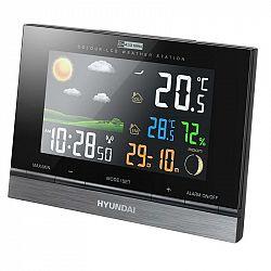Meteorologická stanica Hyundai WS 2303 čierna... Meteorologická stanica, farebný LCD displej, vnútorná a vonkajšia teplota, vlhkosť vzduchu, predpoveď